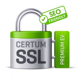 Certyfikat CERTUM Premium EV SSL – 1 rok